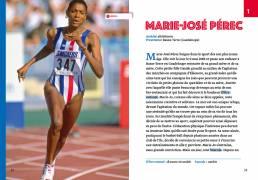 Les plus belles histoires de sportifs français, Claire Uzenat (Loescher 2019). Progettazione editoriale, redazione e impaginazione Les Mots Libres. Marie-José Pérec
